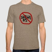 no showers Mens Fitted Tee Tri-Coffee SMALL