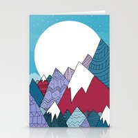 Blue Sky Mountains Stationery Cards