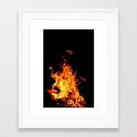 Fire Element Flames Bold… Framed Art Print