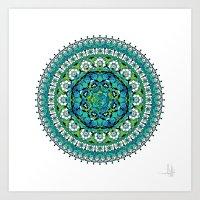 Khatem Rosette 003 | Tur… Art Print