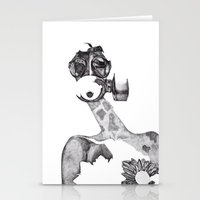 Anabelle (B&W) Stationery Cards