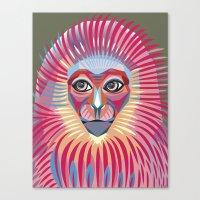 Monkey King Face  Canvas Print