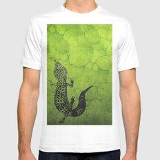 Leopard Gecko Mens Fitted Tee White SMALL
