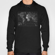 Black and White Vintage World Map Hoody