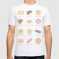 BISCUITS  Mens Fitted Tee Ash Grey SMALL