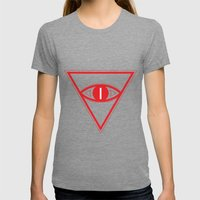 Untitled  Womens Fitted Tee Tri-Grey SMALL