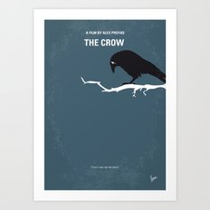 No488 My The Crow minimal movie poster Art Print
