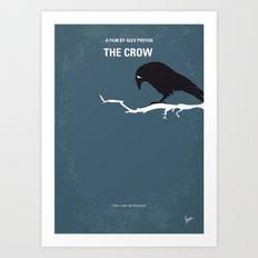 No488 My The Crow minimal movie poster Art Print