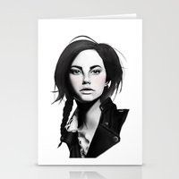 Fashion Illustration - Leather Jacket Stationery Cards