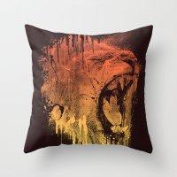 FIERCE LION Throw Pillow
