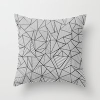 Abstraction Lines #2 Bla… Throw Pillow