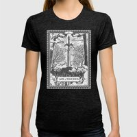 Legend Of Zelda Master S… Womens Fitted Tee Tri-Black SMALL