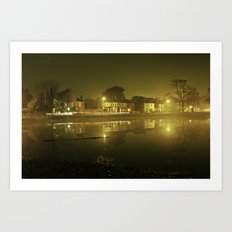 Pond at Night Art Print