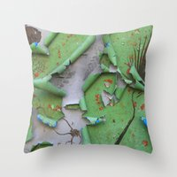 They Painted Over the Past Throw Pillow