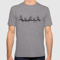 Birds. Mens Fitted Tee Athletic Grey SMALL
