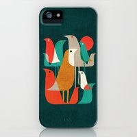 iPhone 5s & iPhone 5 Cases featuring Flock of Birds by Budi Kwan