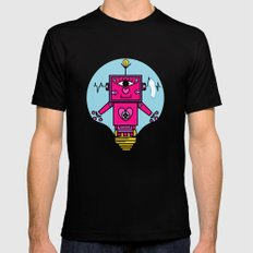 smart robot Black SMALL Mens Fitted Tee
