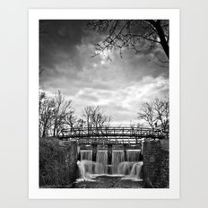 Over the River & Under the Bridge Art Print