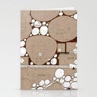 Rock Blueprint Stationery Cards