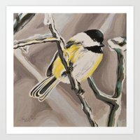 Rachel's Chickadee Art Print