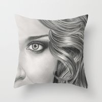 Half Portrait Throw Pillow