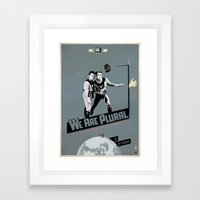 WeArePlural Framed Art Print
