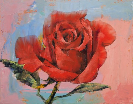 Rose Painting Art Print