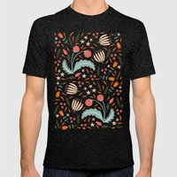 Floral Fusion Mens Fitted Tee Tri-Black SMALL