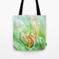 Tote Bag featuring Tulip Garden by Christine Baessler