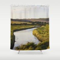 Cuckmere River Shower Curtain