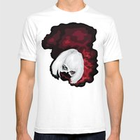 SMOKE BLOOD INK Mens Fitted Tee White SMALL