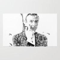 James Bond Sean Connery Text Portrait Rug