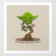 Bonsai Yoda Art Print