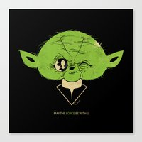 StarWars May the Force be with you (green vers.) Canvas Print