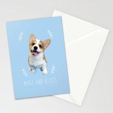 Corgi  hugs and kisses Stationery Cards