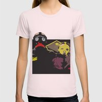 The End of the World Womens Fitted Tee Light Pink SMALL
