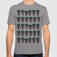Roller Derby Paper Chain Dolls Mens Fitted Tee Athletic Grey SMALL