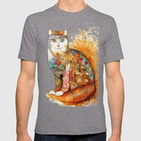 Armenia Cat - watercolor Mens Fitted Tee Tri-Grey SMALL