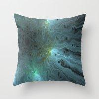 Glow Turquoise Throw Pillow