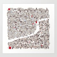 mapping home Art Print