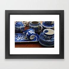 Blue cups Framed Art Print