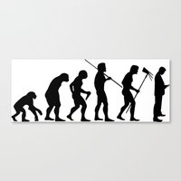 Evolution to Mobile  Canvas Print