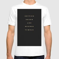 getting drunk and browse tumblr White SMALL Mens Fitted Tee