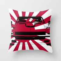 240Z - Rising Sun Throw Pillow