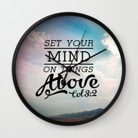 THINGS ABOVE Wall Clock