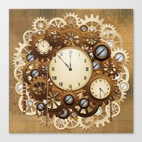 Steampunk Vintage Style … Canvas Print