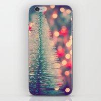 Seasons Greetings 3 -- Retro Sparkle iPhone & iPod Skin
