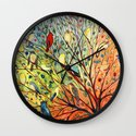 27 Birds Wall Clock