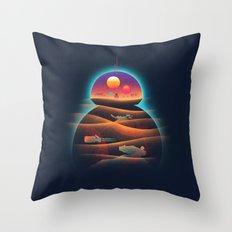 Droid-land Throw Pillow