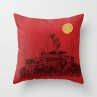 family guard Throw Pillow